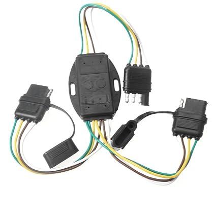 amazon com anto 4 wire 4 pin plug flat y splitter connector trailer rh amazon com