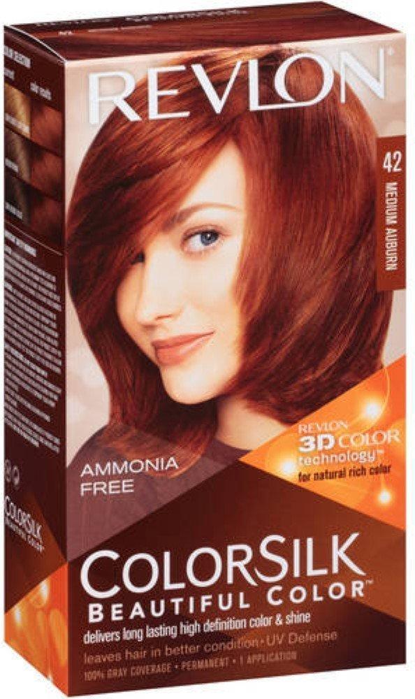 Amazon Revlon Colorsilk Hair Color 42 Medium Auburn 1 Ea Pack