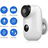 JOOAN 720P Wireless Rechargeable Battery Security Camera WiFi IP Camera Wire-Free Waterproof Indoor Outdoor Security Camera with Two Way Audio PIR Sensor Body Detection HD Night Vision