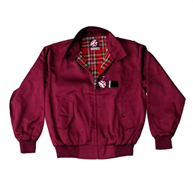 Amazon.com: Warrior – Chaqueta Harrington Color Borgoña ...