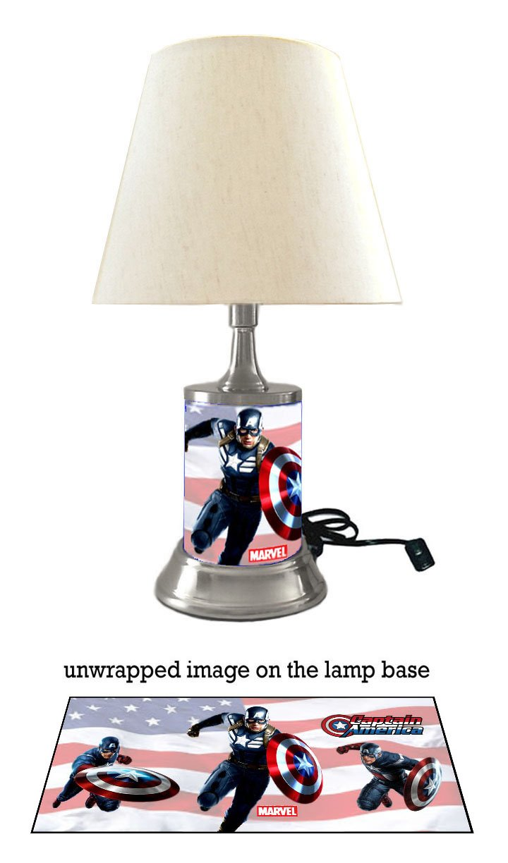 Captain America Lamp with Shade, Marvel