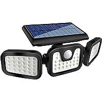 HOORAY Solar Lights Outdoor - 800Lumens 74 LED Wireless Motion Sensor Light,3 Adjustable Heads,270°Wide Angle…