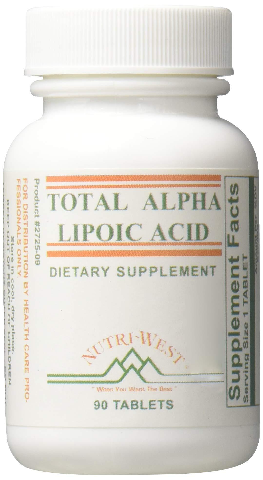 Nutri-West - Total Alpha LIPOIC Acid -90 by Nutri-West