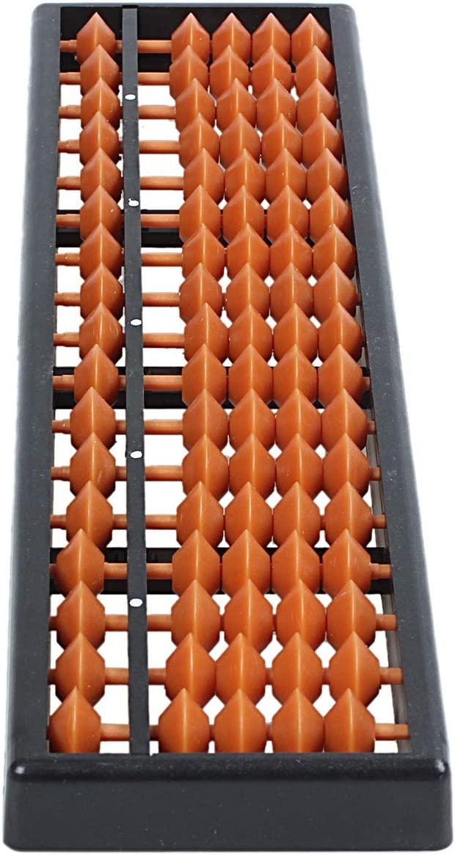 Binchil Outil Calcul Plastique Abacus arithmetique Soroban Enfant 17 Chiffres