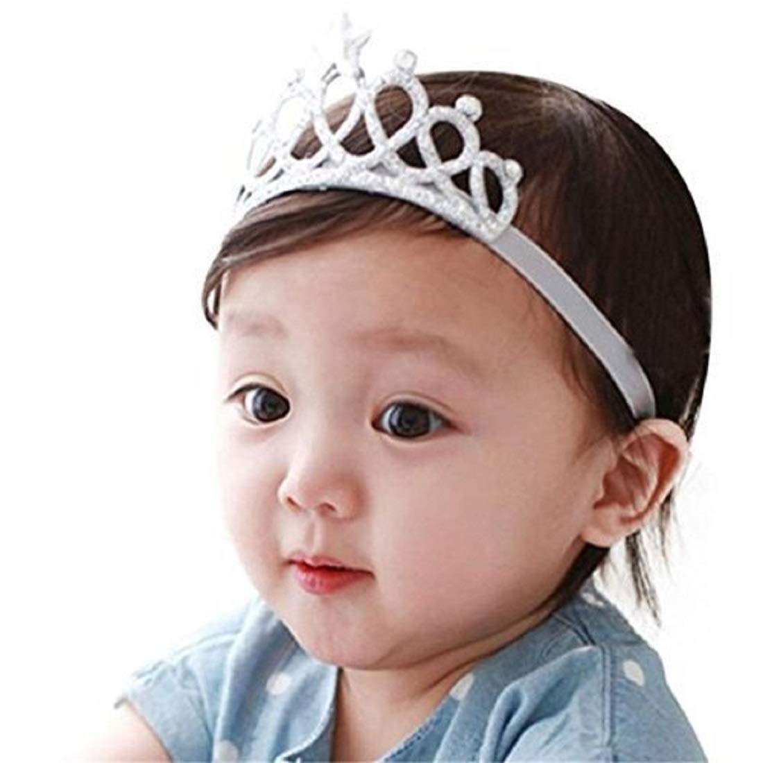 Ziory Silver Color Headbands with Tiaras Crowns Princess Head Band Photo  Props Crown Headband For Baby Boys and Baby Girls.  Amazon.in  Jewellery cafe1173bd9