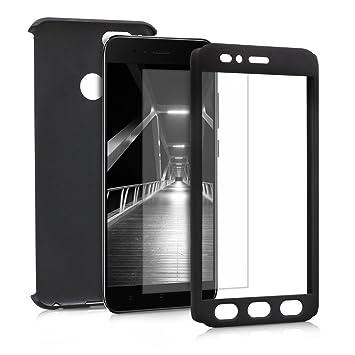 kwmobile Funda para Xiaomi Mi 5X / Mi A1 - Carcasa Protectora Completa con [Cristal Templado] - Cover con Protector de Pantalla [Duro]