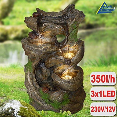 AMUR Fuente DE Interior - Fuente Ornamental - Fuente Decorativa - Fuente EN Cascada 230/12V - Fuente para JARDÍN - El Bosque de Hadas con luz LED: Amazon.es: Jardín