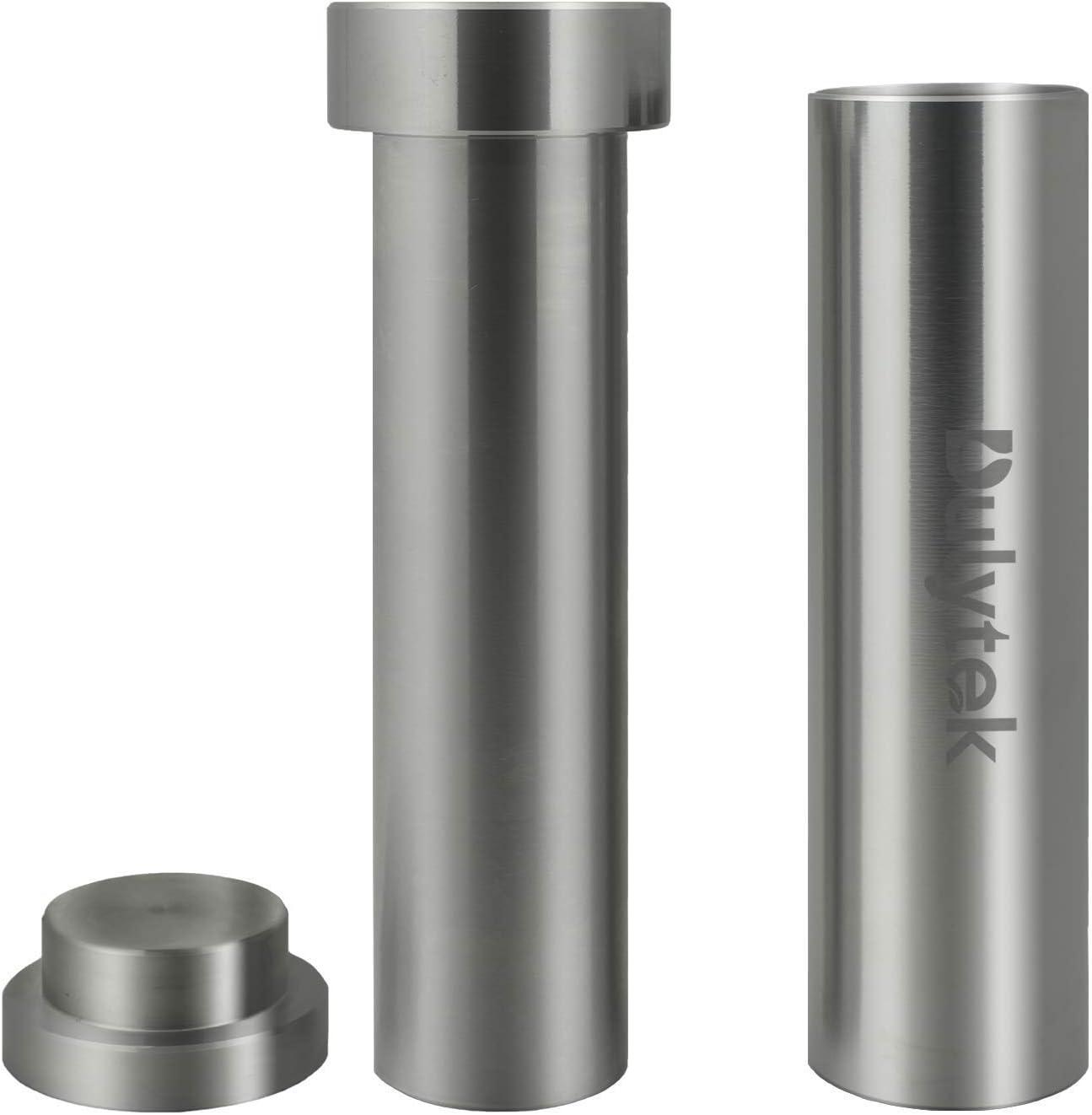 Dulytek Hammer Style Pollen/Herb Press - Cylinder Food-Grade Stainless Steel - X-Large Size - 5.5