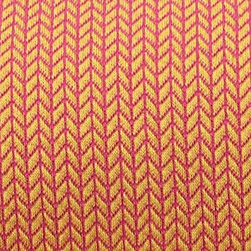 Hamburger Liebe Knit Knit Orange Pink Biostoff Jacquard-Jersey Albstoffe Jersey