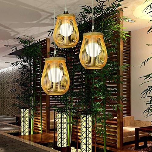 C&L Lustre de lanternes en bambou, lustre en bambou de ...