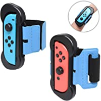 [2in1 Pack] Just Dance 2019 Strap for Nintendo Switch Jon-Con Controller, Cochanvie Adjustable Elastic Wrist Band Cuff for Nintendo Joy-Cons Left and Right (Fit for 4.72-7.5 Inches Wrist)