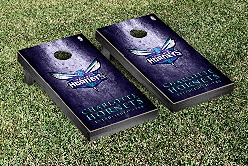 Charlotte Hornets NBA Basketball Regulation Cornhole Game Set Museum Version by Victory Tailgate