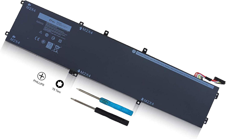 97Wh 6GTPY Battery Compatible with Dell XPS 15 9570 P56F002 XPS 15 9560 P56F001 15-9560-D1745 D1645 D1545 XPS 15 7590(2019 Model) Precision 5520 M5520 5530 Workstation Notebook 5XJ28 5D91C 5041C