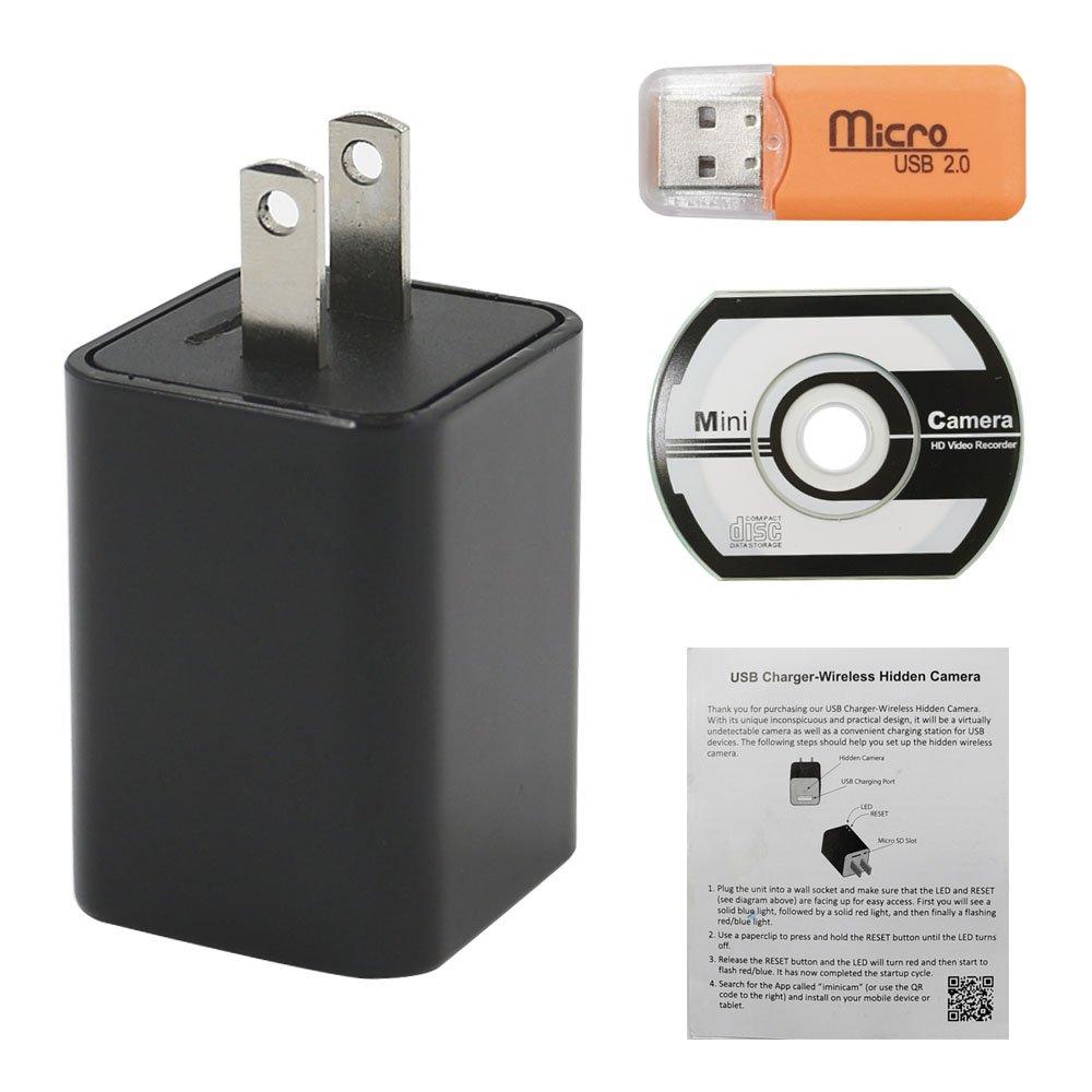 Wifi Wall Charger Adapter Mini Camera, YYCAMUS 1080P HD: Amazon.in ...