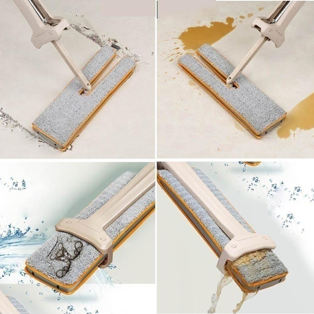 FTXJ Double-Side Dry and Wet Flat Mop Hands-Free Washable Home Floor Cleaner (Mop) by FTXJ (Image #4)