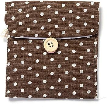 JIALONGZI Dot - Funda de lino para compresa de mujer, reutilizable, bolsa de almacenamiento, lavable: Amazon.es: Salud y cuidado personal