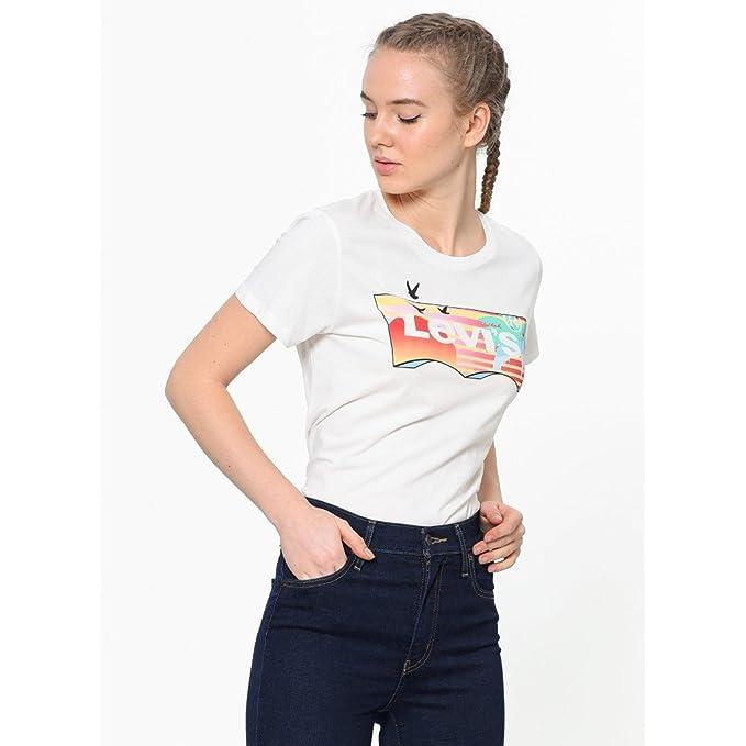 Canotte Tee T Donna Bianco The Perfect 17369 Shirt M Levi's E mvn0NO8w
