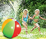 SECOWEL Inflatable PVC Water Spray Ball Water Fountain Garden Pool Beach Lawn Outdoor Sprinkler Kids Toy for Hot Summer