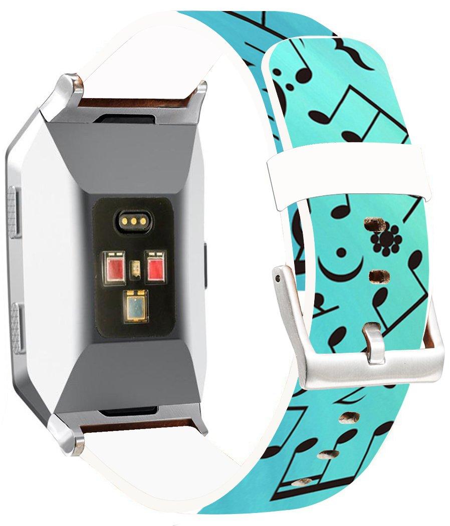 Fitbit Ionicバンドレザー – endiy Fitbit Ionicストラップスモール&ラージシルバーレディースメンズ – 面白いデザイン印刷Hallowmas All Saints ' Day Gift Present [Fitbit Ionic] A 69 A-69 A-69 B07784CDXY