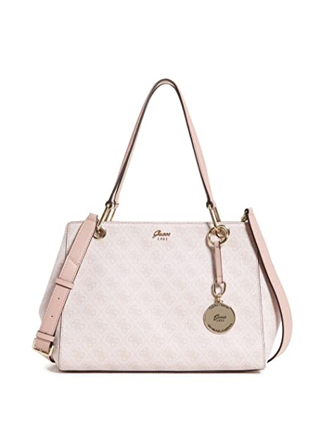 Amazon.com: Guess Jacqui Satchel, Rosado, talla única: Clothing