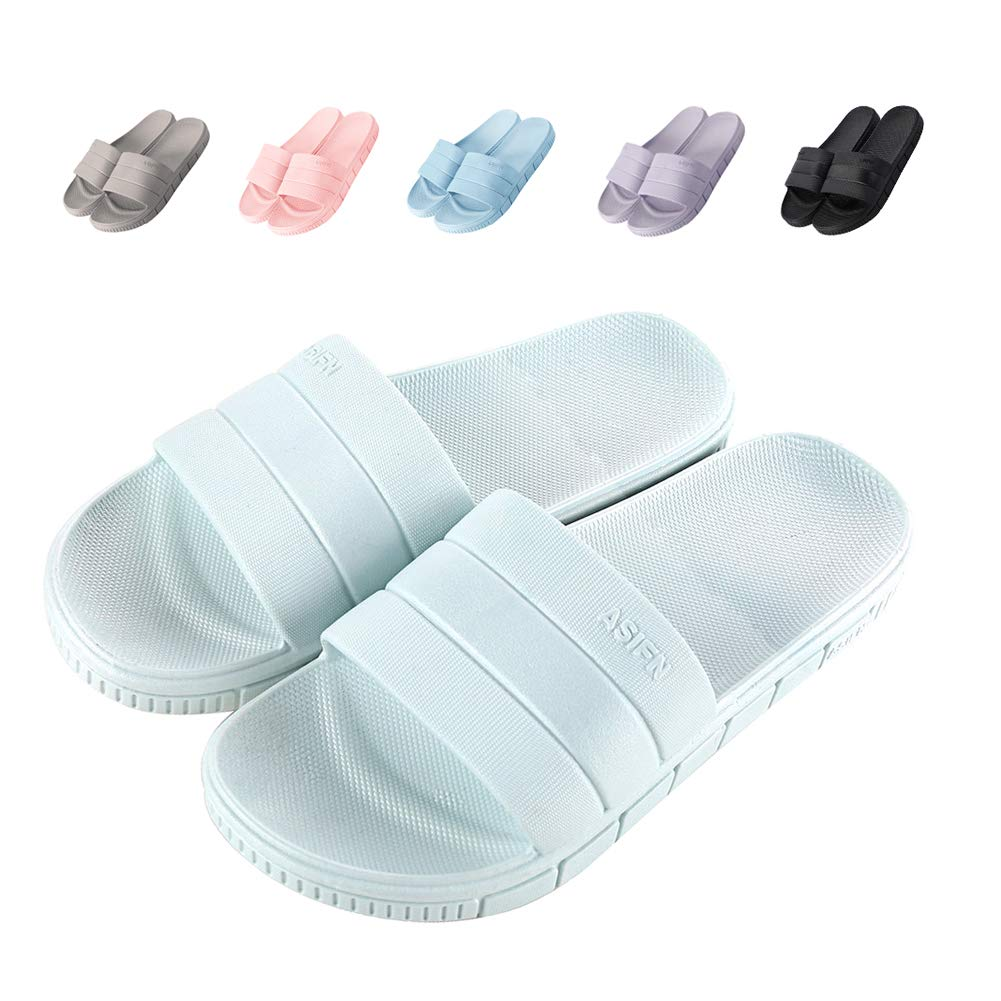 Shower Slides Non Slip Bath Slippers Open Toe Bathroom Slippers Gym Slippers Sandals Women Men