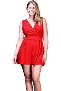30c07313aa Amazon.com  Young and Reckless - Marcy Romper - Black - - Womens ...