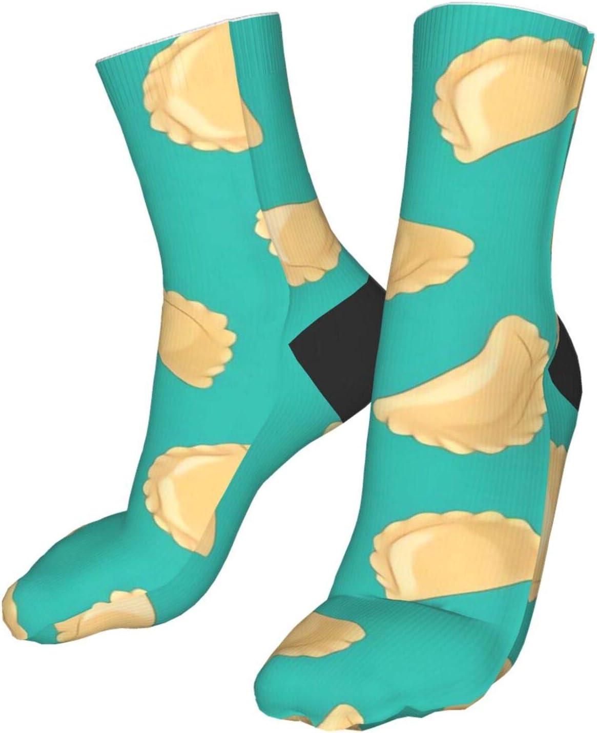 ~ Dumplings Pierogi Varenyky Pelmeni Food and Drink Compression Socks Unisex Fun Novelty Crazy Dress Crew Socks