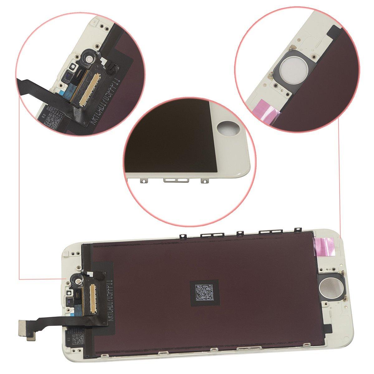 BBSELL LCD Pantalla Táctil Reemplazo De Marco Digital Un Conjunto Completo De Herramientas y Montaje Pantalla De Vidrio Protector Para IPhone 6 4.7 ...