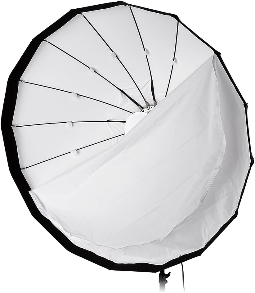 Pulso, Primo, and Unilite Flashman 120cm and Compatible Pro Studio Solutions EZ-Pro 48in Collapsible Beauty Dish and Softbox Combination with Eggcrate Grid and Broncolor Speedring for Bronocolor