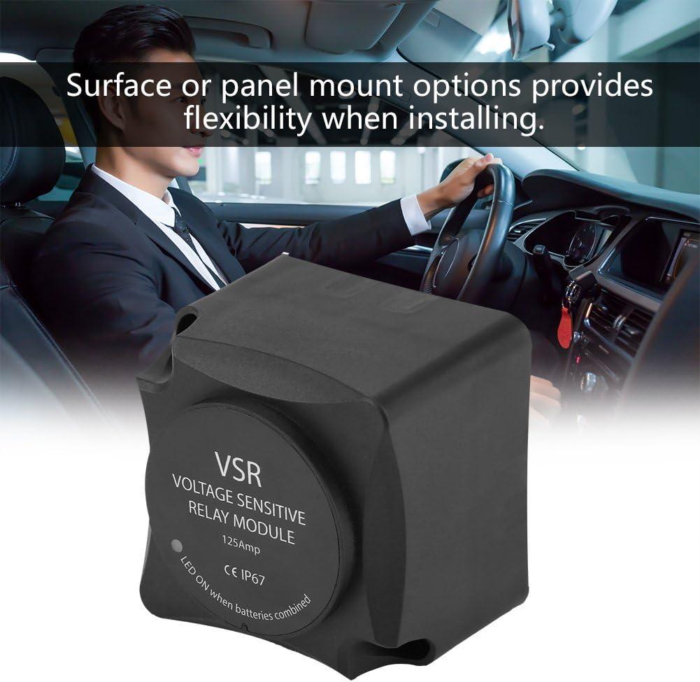 //Rel/è di Ricarica Automatica 125A Isolatore a Doppia Batteria Hlyjoon Rel/è sensibile alla Tensione VSR Adatto per Auto Universale VSR