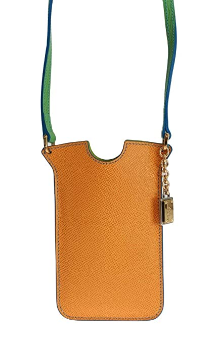 2ee9086e12 Amazon.com  Dolce   Gabbana - Orange Leather Phone Case Cover ...