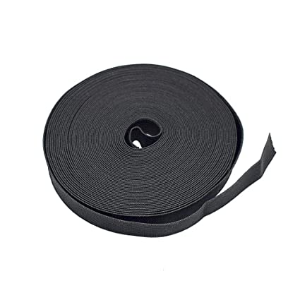 12Yards Elastic Bands Spool Sewing Band Flat Elastic Cord Black, 2 inch