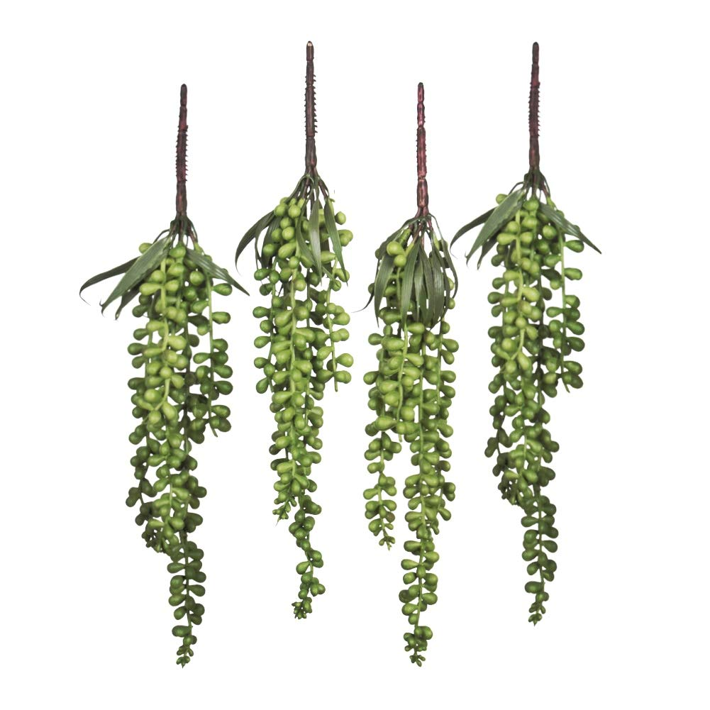 Meiliy-4pcs-Artificial-Succulent-Plants-Hanging-Succulent-Plants-Faux-Succulents-Unpotted-Branch-String-of-Pearls-Plant-for-Home-Kitchen-Office-Wedding-Garden-Craft-Art-Decor