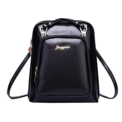 Fashion Women Girls pu Leather Backpack Travelling School Satchel Bag  Casual Daypack Leisure Shoulder Bag Cross Body Bag  Amazon.in  Toys   Games 6fb6e28d005ee