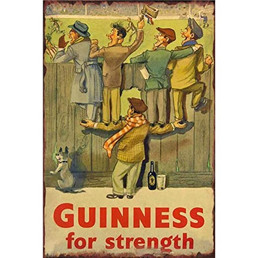 Guinness For Strength Póster De Pared Metal Retro Placa ...