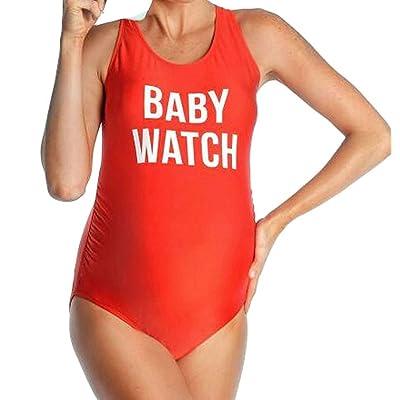 2018 Femmes enceintes Lettre impression maillot de bain une pièce