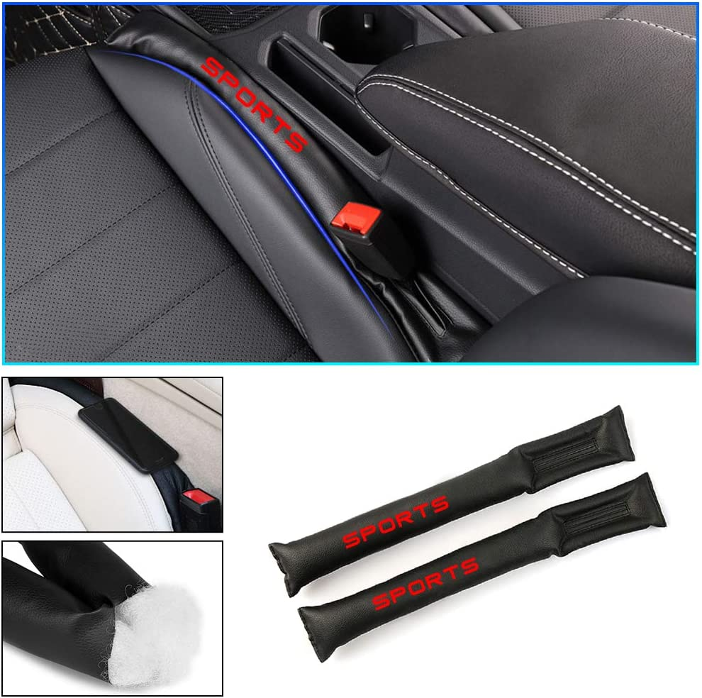 Longzhimei for INFINITI Q50 Q60 QX50 QX60 QX70 QX80 Car Seat Gap Filler PU Leather Car Seat Slot Plug Pad Leakproof Protective Stop Items from Falling Red 2Pcs