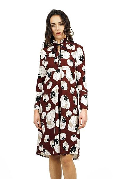 Divina Providencia Aurore, Vestido de Oficina para Mujer, Rojo (Granate), (