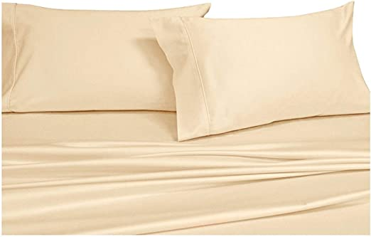 1000TC IVORY SOLID EGYPTIAN COTTON SUPER DEEP POCKET FITTED SHEET /& SHEET SET