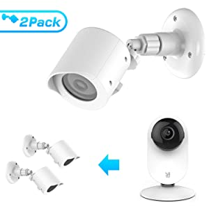 BASSTOP Wall Mount for Yi Home Camera, Weather Proof 360 Degree Protective Adjustable Indoor & Outdoor Mount and Cover for Yi Home Camera 1080p/720p AntiSun Glare UV Protection