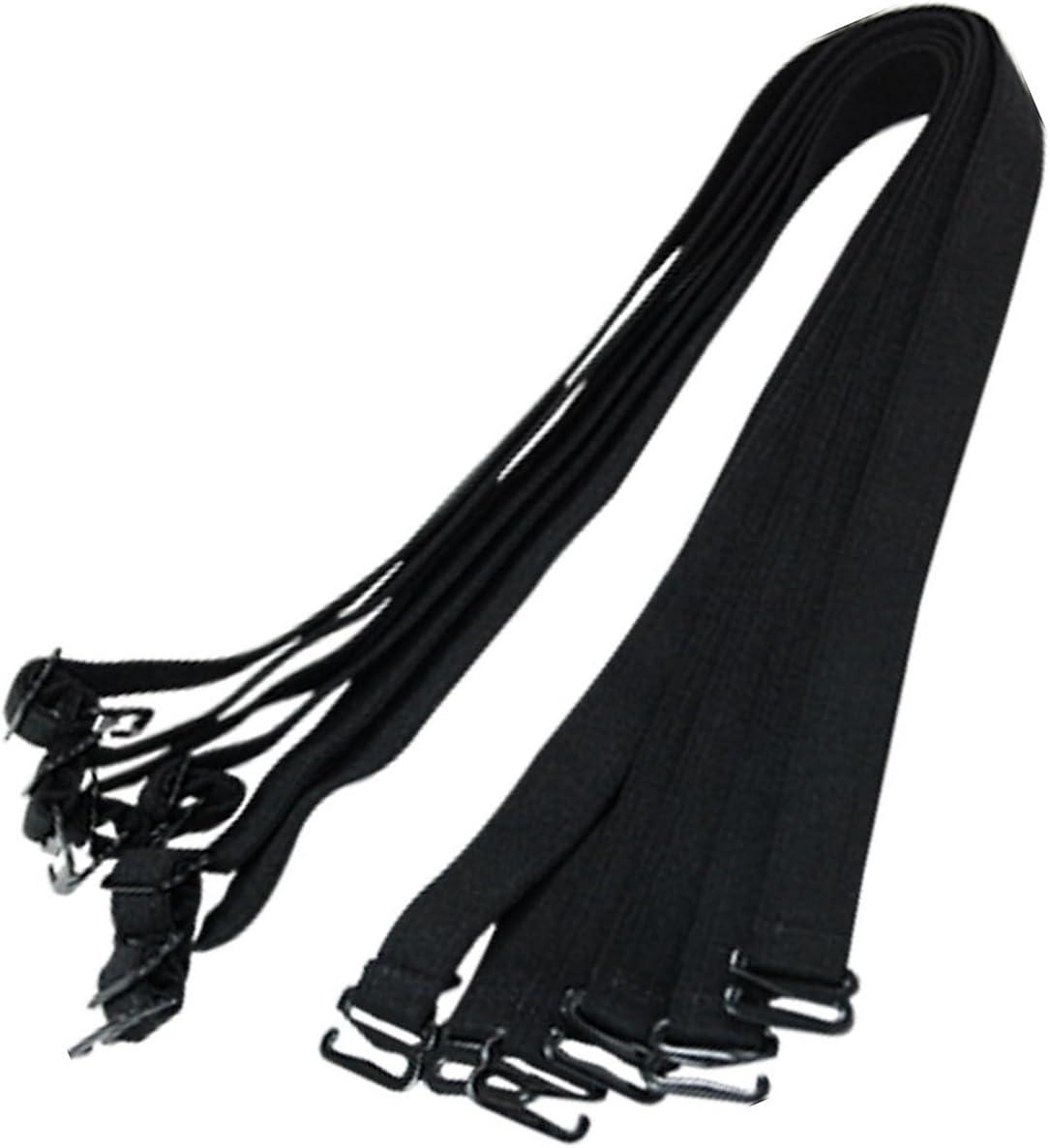 uxcell/® 6 Pcs Bra Black Soft Adjustable Elastic Shoulder Straps