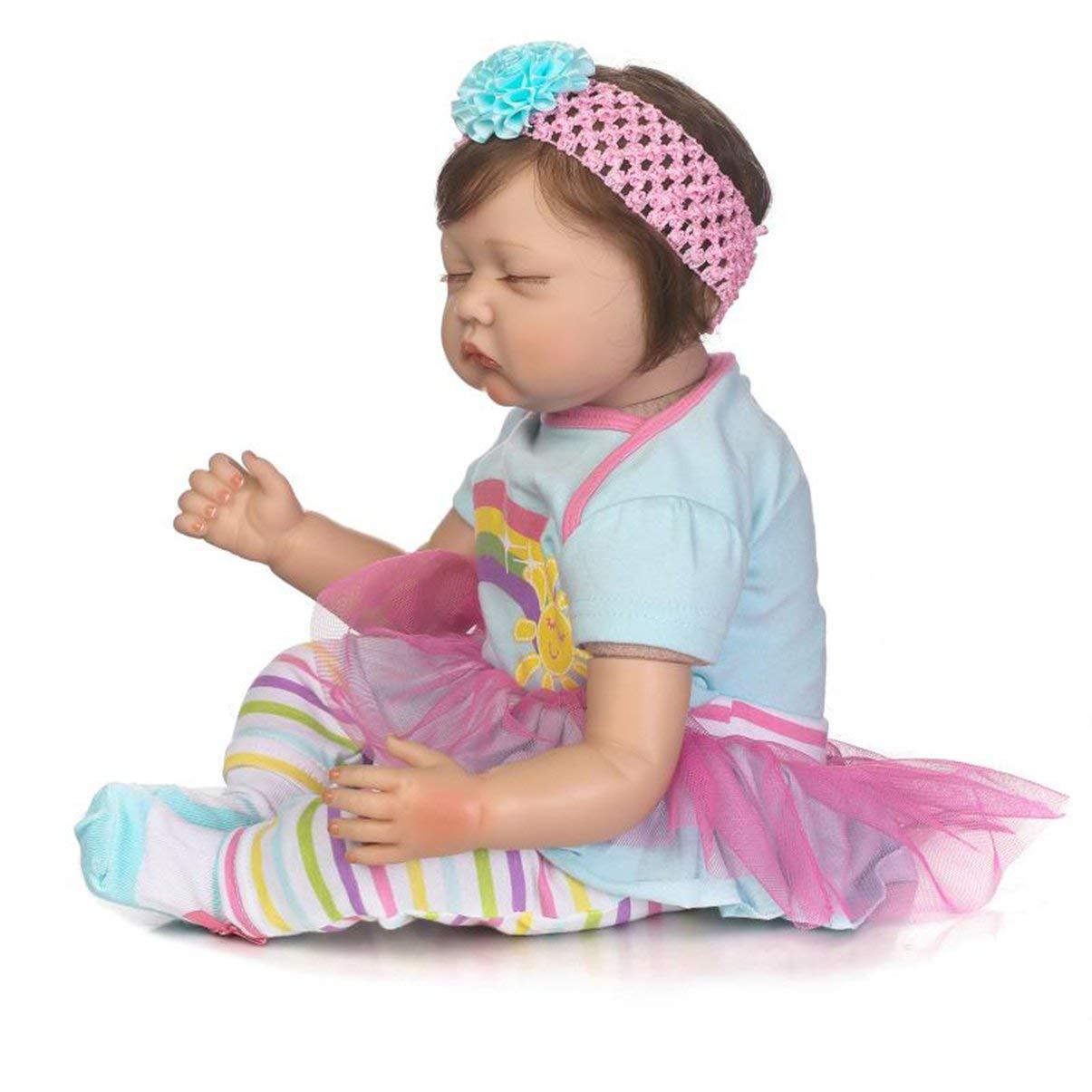 Barato JullyeleESgant 55 cm de Tela del Cuerpo del bebé Hecho a Mano bebé renacido muñeca Suave del Vinilo de Silicona muñeca de bebé no tóxico Juguete Seguro Realista recién Nacido muñeca de Juguete