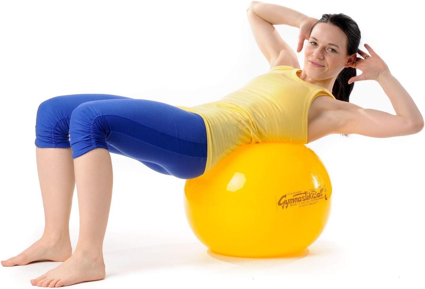 PEZZI Original Gymnastikball Standard Sitzball Set /Ø 42 cm bis 75 cm inkl Oliver Ballpumpe bis 400 kg belastbar Training Fitness Reha Therapie