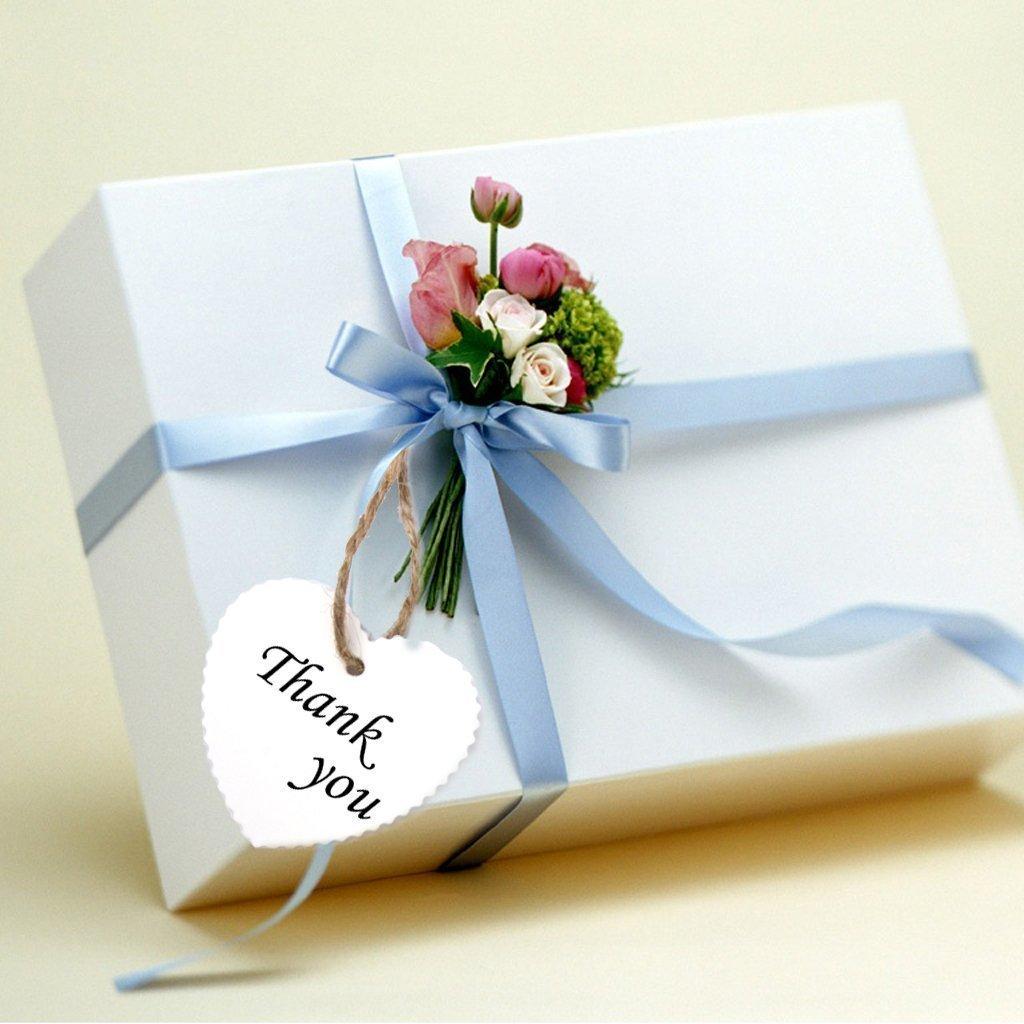 Sungpunet 100 unids tarjetas cartón papel de forma de corazón blanco para la boda decoración de bricolaje