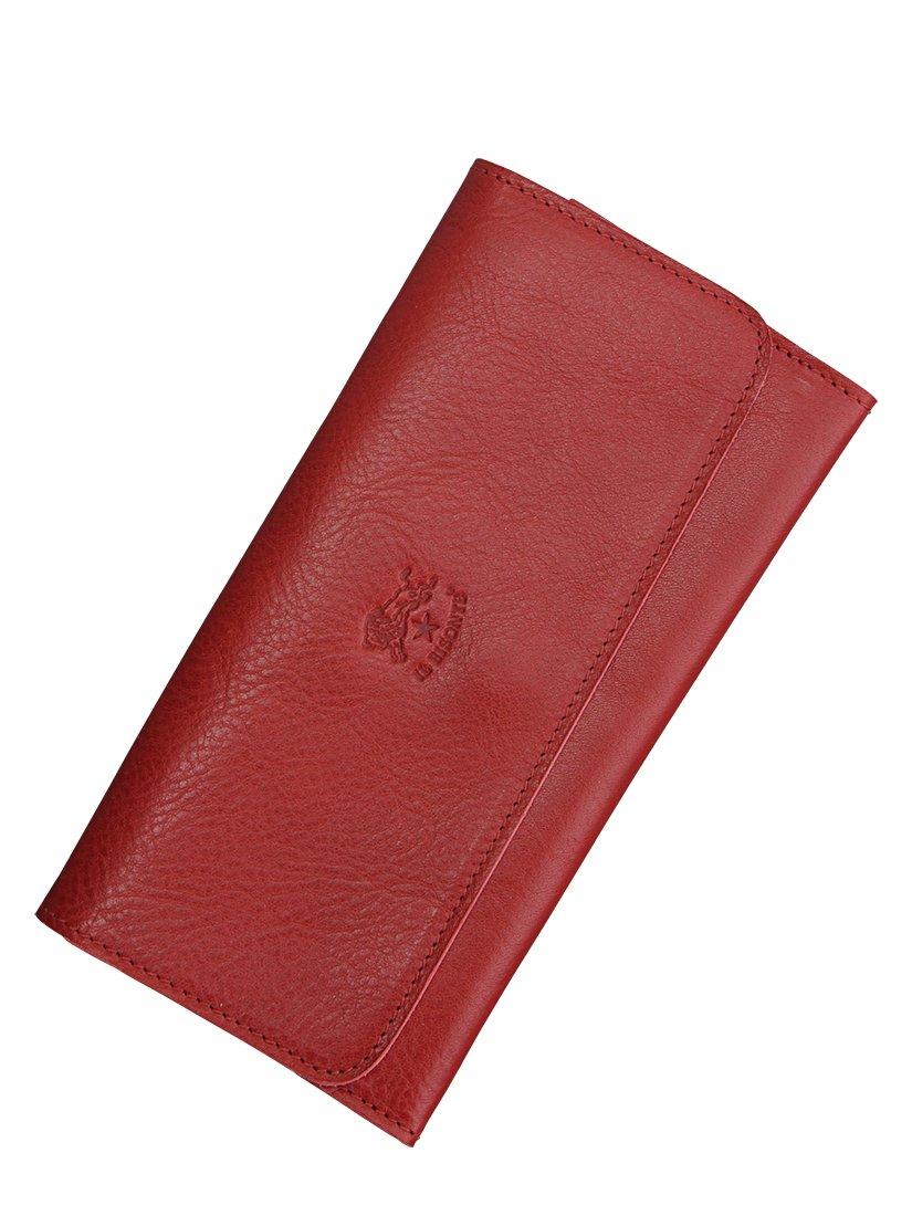 5f99acbe1034 (イルビゾンテ)IL BISONTE ベジタブルタンニンレザー2つ折り長財布 [並行輸入品] B01ANGCRKG レッド レッド 8色展開-