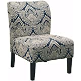 Ashley Furniture Signature Design   Honnally Accent Chair   Contemporary  Style   Sapphire
