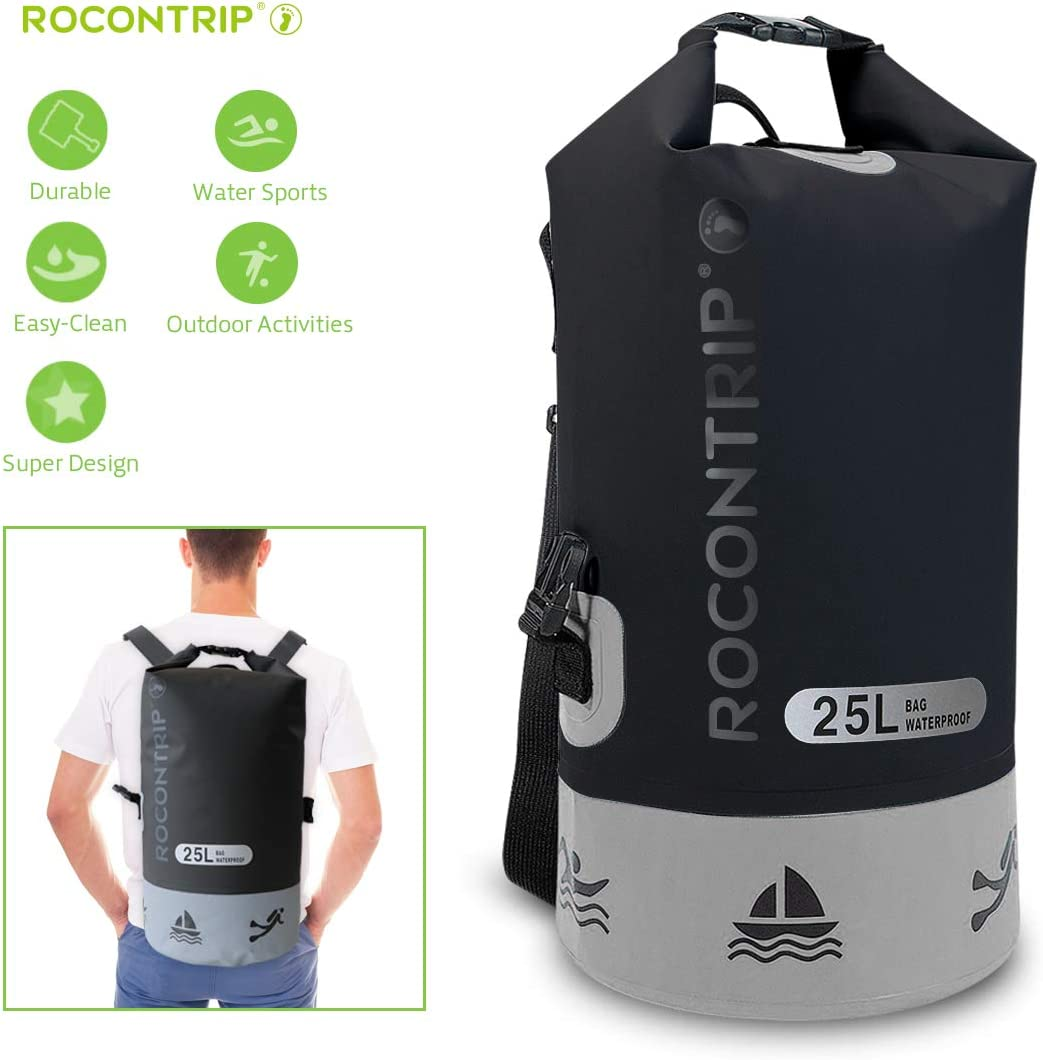 25L Waterproof Backpack Dry Bag Outdoor Sport Surfing Boating Fishing Rucksack