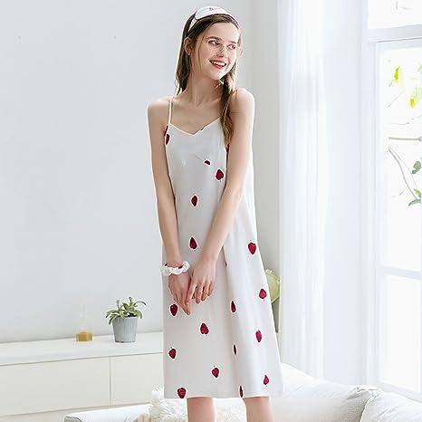 Pijamas de Verano Nuevo algodón Tirantes Sexy Falda Colegiala ...