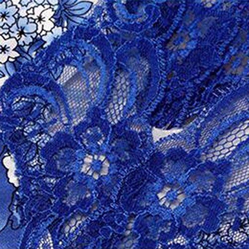 La signora di seta camicia da notte pigiami primavera e l'estate blu e bianco porcellana stile cinese