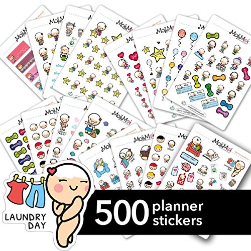 (Starting Kit MIX PACK Large Kawaii Planner Stickers, Stickers for Life Planner, Erin Condren Stickers, Kikki Stickers, Plum Stickers, Filofax Stickers, Sport, Mood, Fitness, Motivational & Funcional )